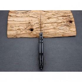 KNIFEZER Pisau Saku Lipat Portable Knife Survival Tool Cold Steel - 57HRC - Silver - 7