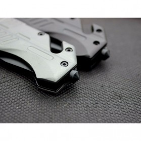 KNIFEZER Pisau Saku Lipat Portable Knife Survival Tool Cold Steel - 57HRC - Silver - 10
