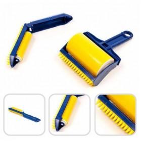Sticky Buddy Roller Pembersih Kotoran Debu Bulu Hewan - Blue/Yellow - 1