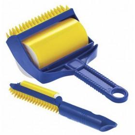 Sticky Buddy Roller Pembersih Kotoran Debu Bulu Hewan - Blue/Yellow - 2