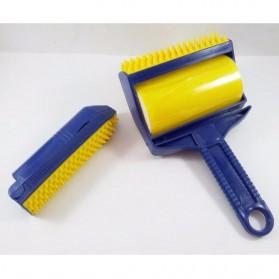 Sticky Buddy Roller Pembersih Kotoran Debu Bulu Hewan - Blue/Yellow - 3