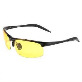 Kacamata Night Vision Polarized Sunglasses - Black