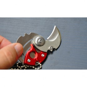 Pisau Koin Mini Portable Coin Knife Survival Tool EDC - GJ0116 - Black - 3