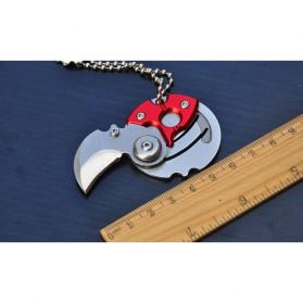 Pisau Koin Mini Portable Coin Knife Survival Tool EDC - GJ0116 - Black - 5
