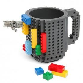 VKTECH Gelas Mug Lego Build-on Brick - 936SN - Blue - 2