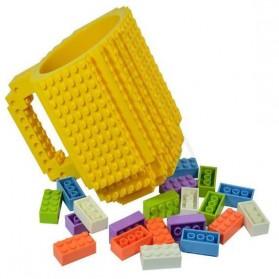 VKTECH Gelas Mug Lego Build-on Brick - 936SN - Blue - 3