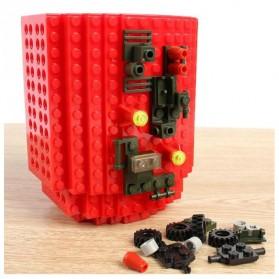 VKTECH Gelas Mug Lego Build-on Brick - 936SN - Blue - 4