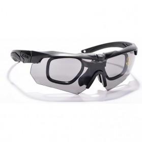 ESS Crossbow Kacamata Hitam Polarized Dengan Frame Myopia 3LS - Black - 2