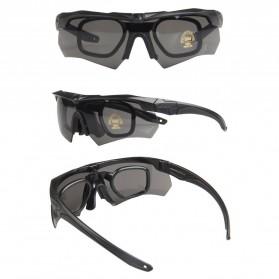 ESS Crossbow Kacamata Hitam Polarized Dengan Frame Myopia 3LS - Black - 6