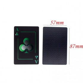Benniu Poker Kartu Remi Plastik Waterproof - Black - 4