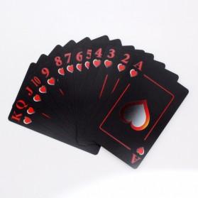 Benniu Poker Kartu Remi Plastik Waterproof - Black - 5
