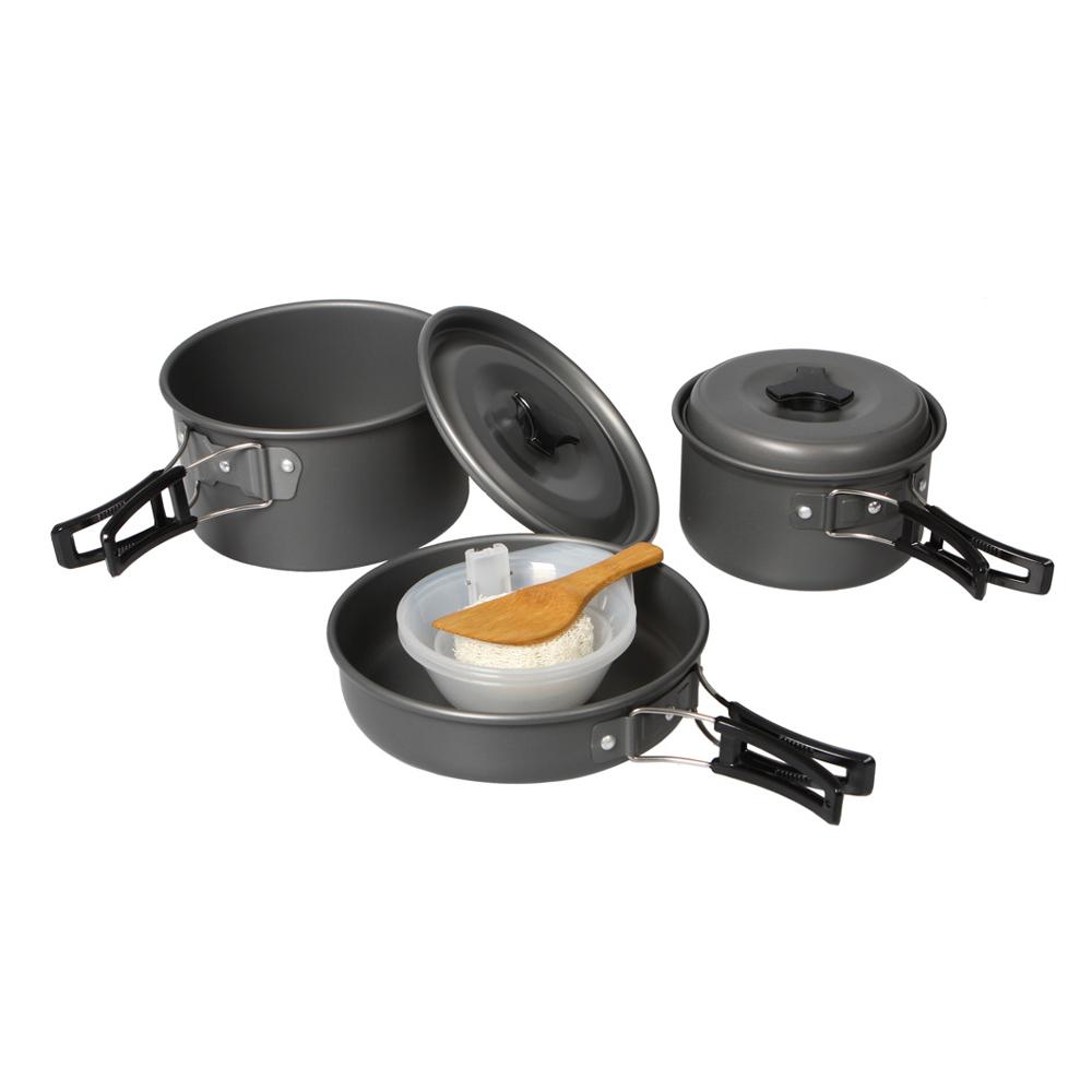 Panci masak set outdoor 11pcs black 1