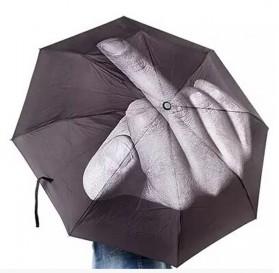 Payung Unik Motif Jari Tengah - Black