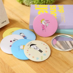 Cermin Make Up Korea Desain Lucu (Mix Color) - Multi-Color