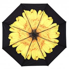 Payung Motif Bunga 3D - Yellow - 2