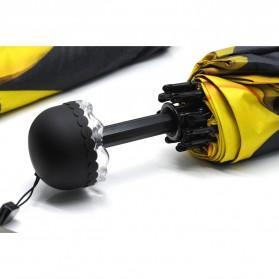 Payung Motif Bunga 3D - Yellow - 3