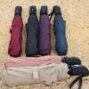 Payung Lipat Portabel Warna Solid - Black