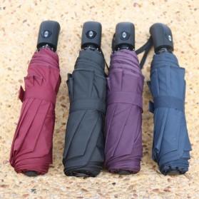 Payung Lipat Otomatis Portabel Warna Solid - PYGBK - Black - 5