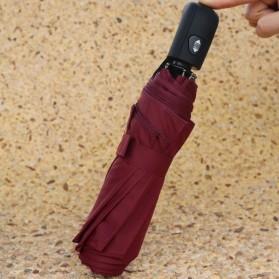 Payung Lipat Otomatis Portabel Warna Solid - PYGBK - Black - 7