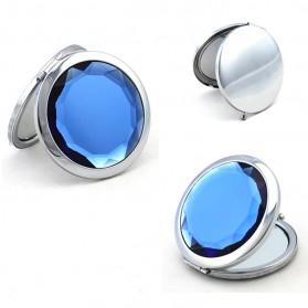 Cermin Make Up Dua Sisi - Blue