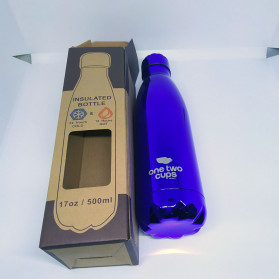 OneTwoCups Swell Botol Minum Thermos 500ml - HS-6611 - Blue Metalic - 10