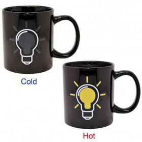 Magic Mug Cangkir Sensitif Suhu Motif Bohlam 400ml - BSB201 - Black - 2
