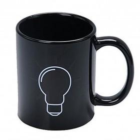 Magic Mug Cangkir Sensitif Suhu Motif Bohlam 400ml - BSB201 - Black - 3