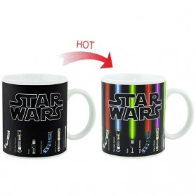 Magic Mug Cangkir Sensitif Suhu Motif Lightsaber Star Wars - Black