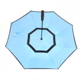 Payung Terbalik Double Layer - Black/Blue - 3