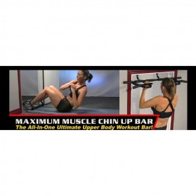 Door Gym Extreme Alat Pull Up Pintu - HB06 - Black - 5