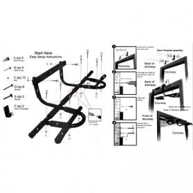 Door Gym Extreme Alat Pull Up Pintu - HB06 - Black - 7