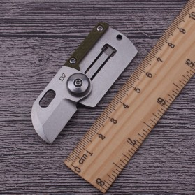 HALSTUST Pisau Lipat Mini Gantungan Kunci Knife Survival Tool EDC Key Chain - DQ-GPD - Black/Silver