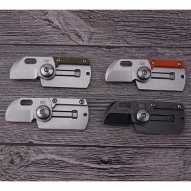 HALSTUST Pisau Lipat Mini Gantungan Kunci Knife Survival Tool EDC Key Chain - DQ-GPD - Black/Silver - 2