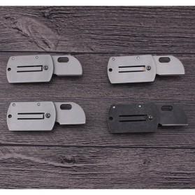 HALSTUST Pisau Lipat Mini Gantungan Kunci Knife Survival Tool EDC Key Chain - DQ-GPD - Black/Silver - 3