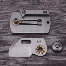 HALSTUST Pisau Lipat Mini Gantungan Kunci Knife Survival Tool EDC Key Chain - DQ-GPD - Black/Silver - 4