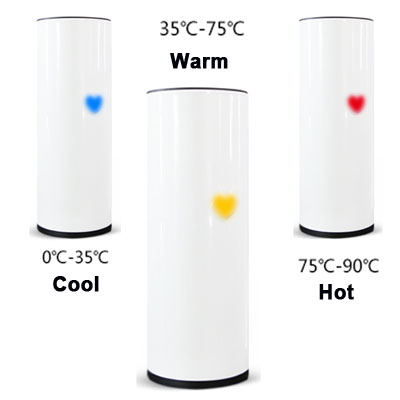 Heart Tea Led Temperature Display Stainless Steel Touch Sensing Cup White Jakartanotebook Com