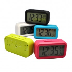 Taffware Fanju Jam LCD Digital Clock with Alarm - JP9901 - Green - 6