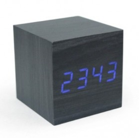 HOUSEEN Jam Digital LED Kayu - JK-808 - Black/Blue