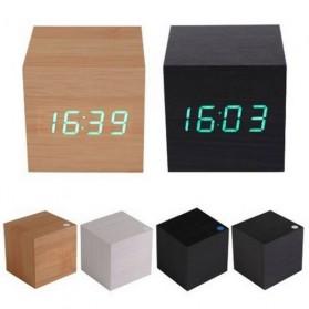 HOUSEEN Jam Digital LED Kayu - JK-808 - Black/Blue - 4