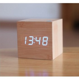 HOUSEEN Jam Digital LED Kayu - JK-808 - Brown