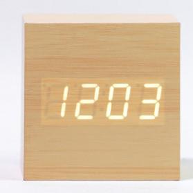 HOUSEEN Jam Digital LED Kayu - JK-808 - Brown - 5