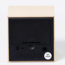 HOUSEEN Jam Digital LED Kayu - JK-808 - Brown - 6