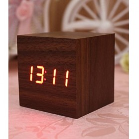 HOUSEEN Jam Digital LED Kayu - JK-808 - Wooden