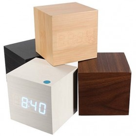 HOUSEEN Jam Digital LED Kayu - JK-808 - Wooden - 3