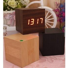 HOUSEEN Jam Digital LED Kayu - JK-808 - Wooden - 4