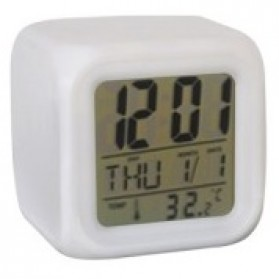 Jam Digital LED dengan Alarm - JK-2519 - White