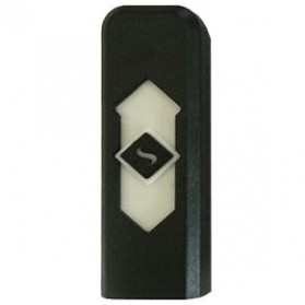 Korek Elektrik USB Cigarette Lighter - Black White