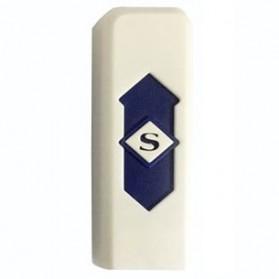 Korek Elektrik USB Cigarette Lighter - White/Blue