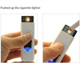 Korek Elektrik USB Cigarette Lighter - JL543 - Blue/White - 4