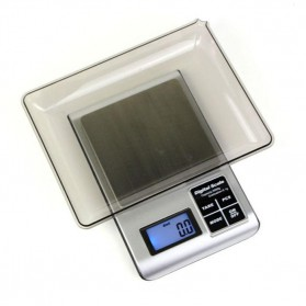 Peralatan Rumah Tangga - 5KW 1.8 Inch LED Digital Electronic Jewelry Scale 3000g x 0.1g - Black